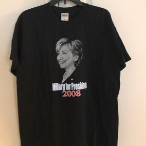 Hilary Clinton T shirt size large black